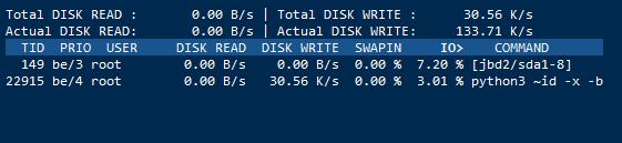 Linux VPS使用iotop命令实时查看硬盘I/O
